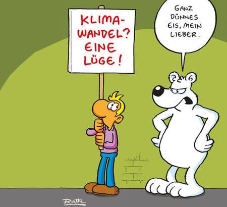 Ein Cartoon zum Thema Klimaschutz von Ralph Ruthe