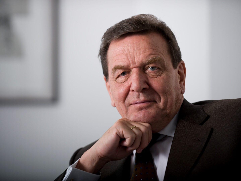 Porträt von Gerhard Schröder