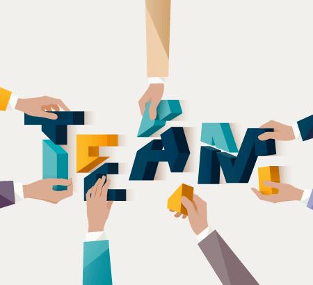 Illustration zu Teamwork