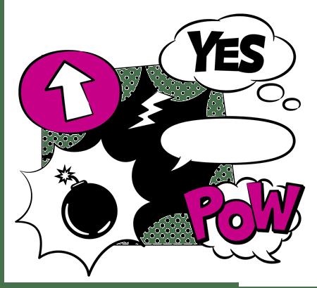 Illustration im Comic-Stil zu Sprunginnovationen