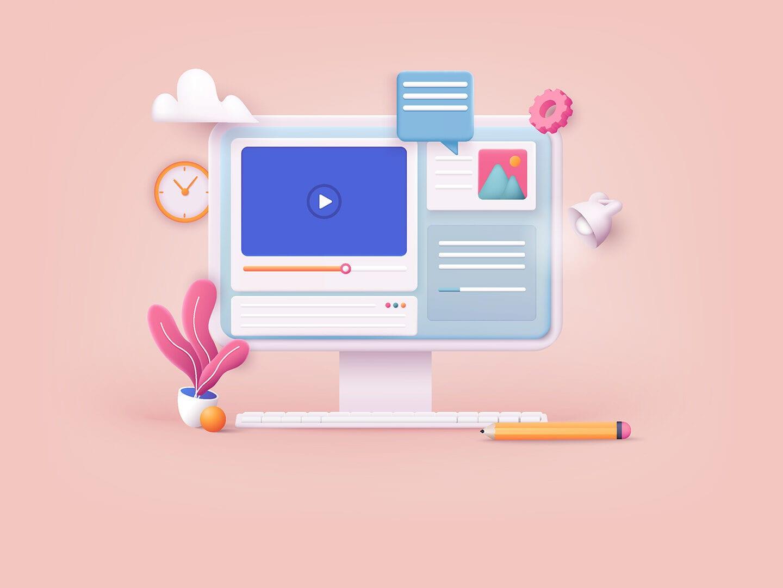 Illustration eines Bildschirm