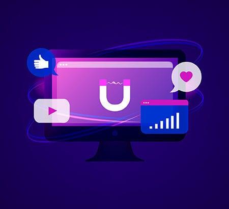 Inbound-Marketing: Ein Magnet auf dem Display zieht Content an