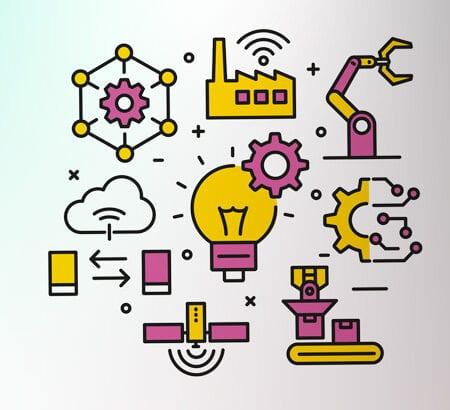 Verschiedene Anwendungsmöglichkeiten von Künstliche Intelligenz als Icons