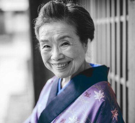 Japanerin im Kimono