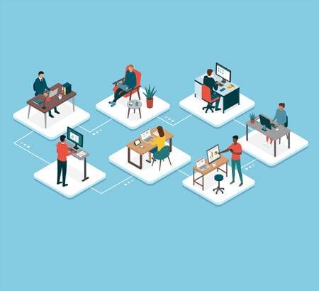 Illustration von remote work