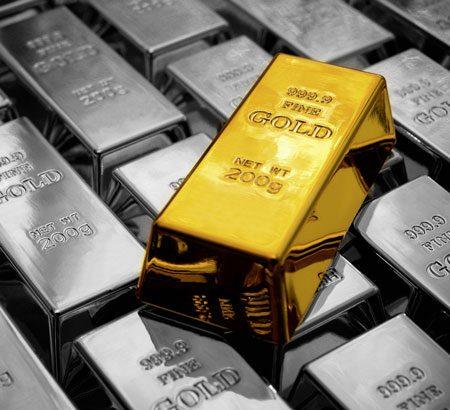 Ein Haufen Goldbarren