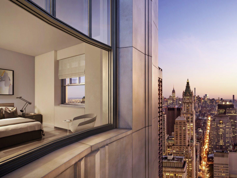 Ausblick aus dem One Wall Street über New York