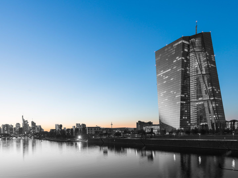 Die Zentrale der Europäischen Zentralbank in Frankfurt am Main.