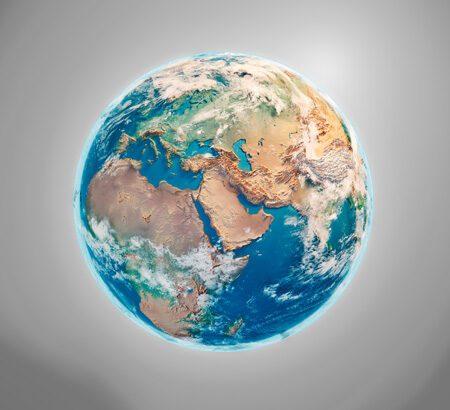 Eine Satellitenaufnahme der Erde.