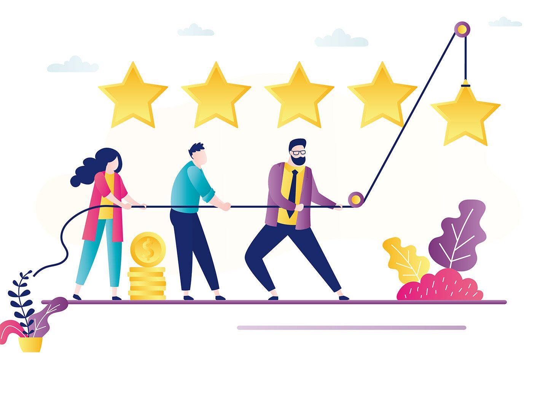 Bewertungsplattformen: Arbeitnehmer geben Unternehmen Sterne