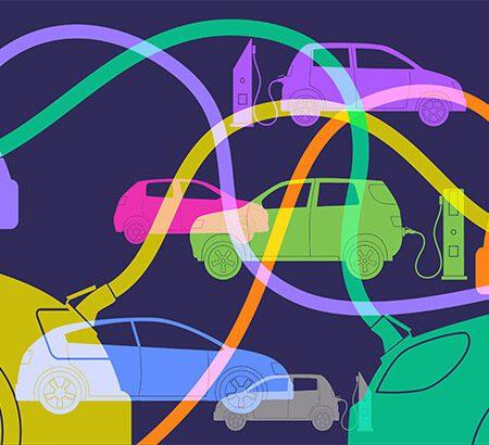 Illustration von einer E-Flotte