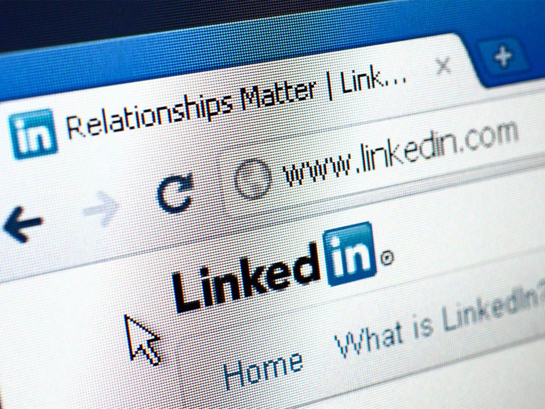 Ein Screenshot von Linkedin im Browser
