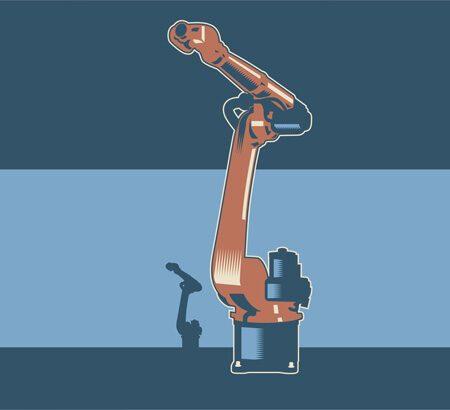 Illustration eines Roboterarms